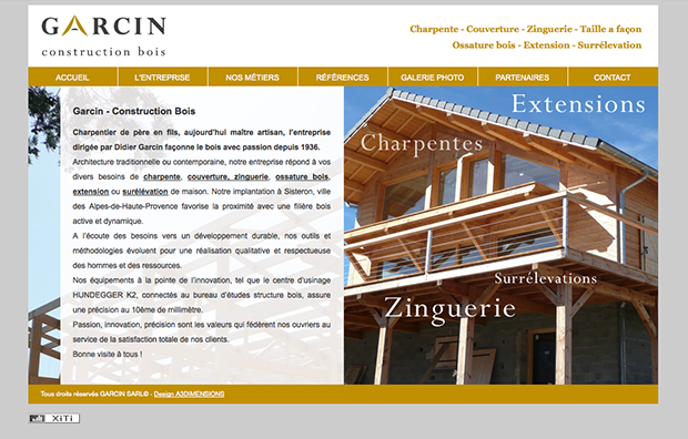 Site web garcin construction artenium for Architecture traditionnelle definition