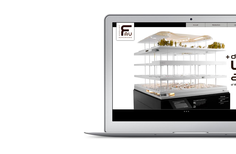 Site web Atelier maquettes FAU