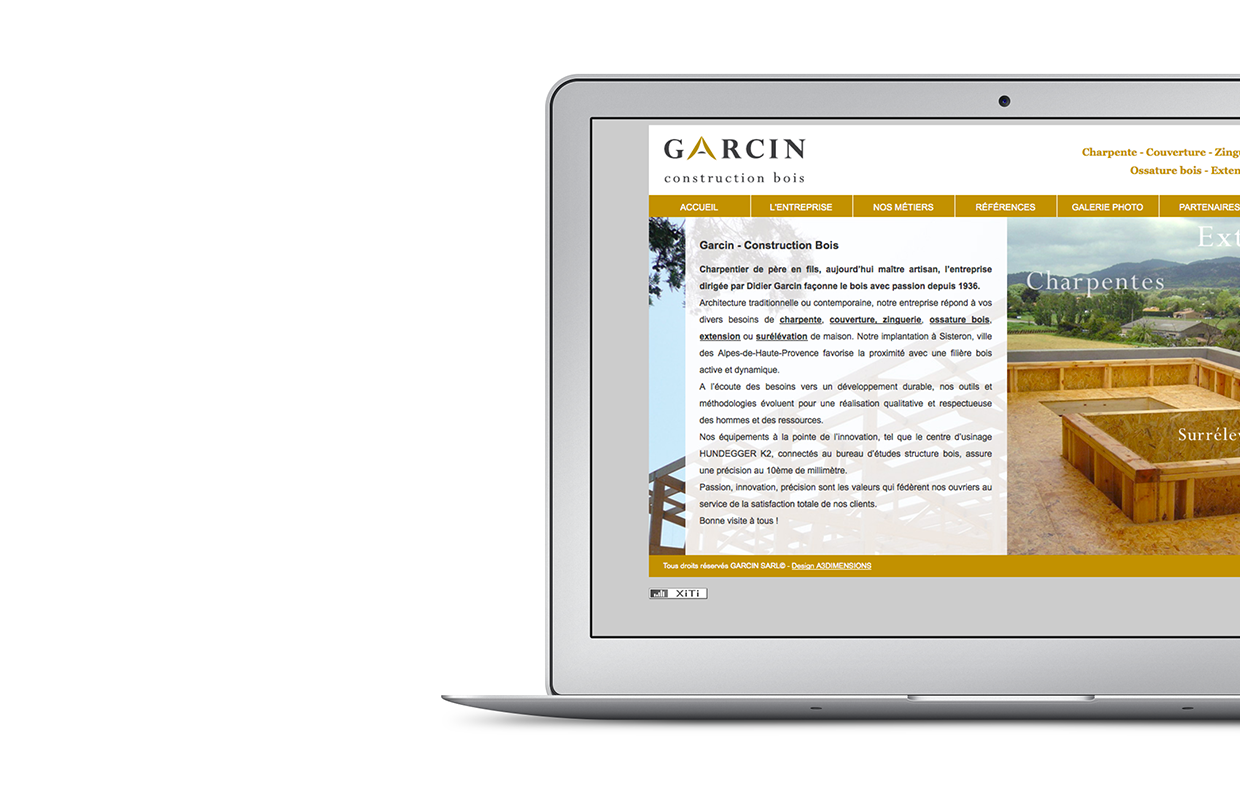 Site web Garcin Construction