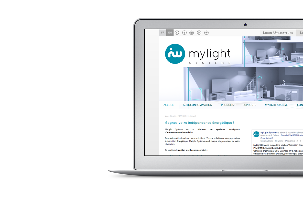 Site web Mylight Systems