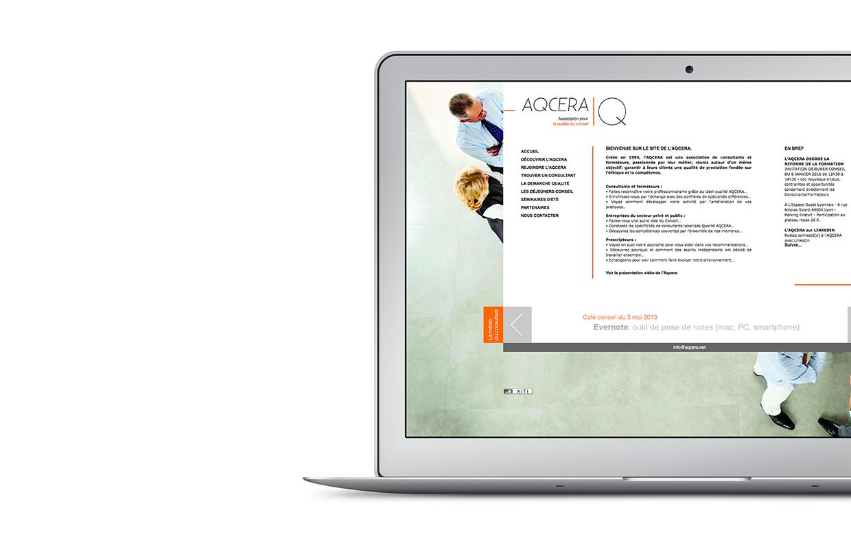 Site web association professionnelle AQCERA
