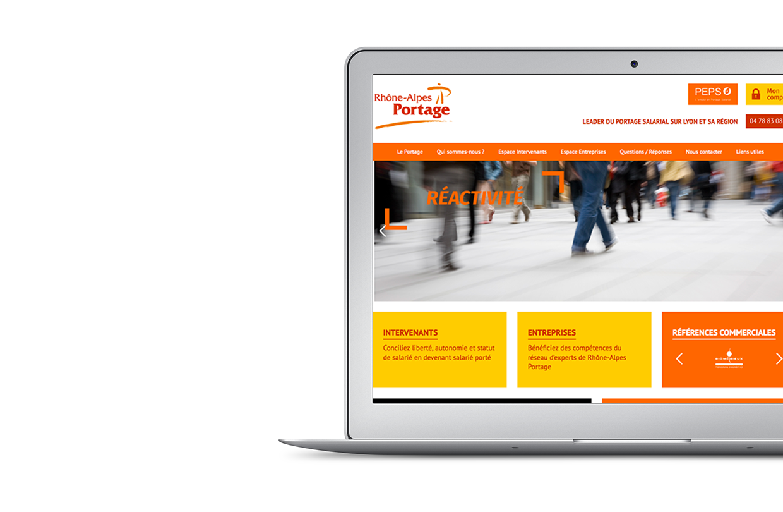 Site web Rhône-Alpes portage